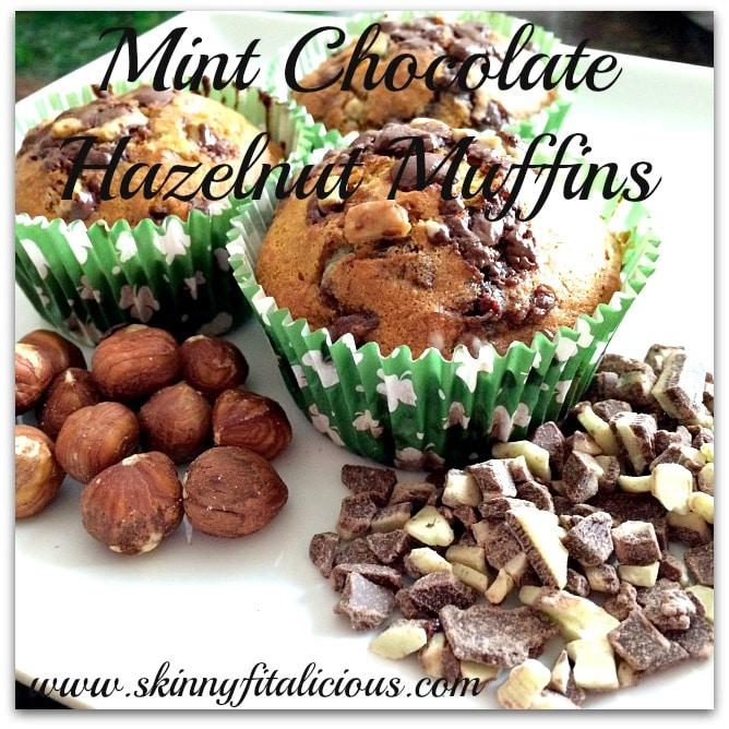 mint choc hazelnut muffins