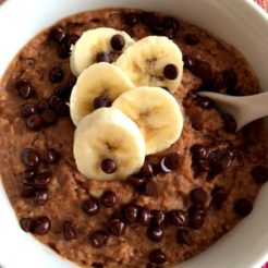 Cookie Dough Baked Oatmeal {GF, Low Cal}