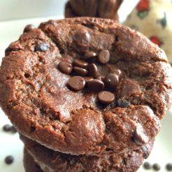 Pumpkin Almond Chocolate Chip Muffins