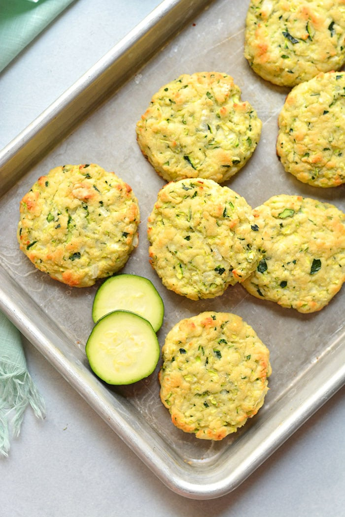 Healthy Zucchini Biscuits are low calorie homemade biscuits made with zucchini and healthy ingredients. Gluten free, dairy free and Paleo friendly too! Gluten Free + Low Calorie + Paleo + Low Carb