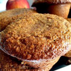Peach Cashew Gluten Free Muffins