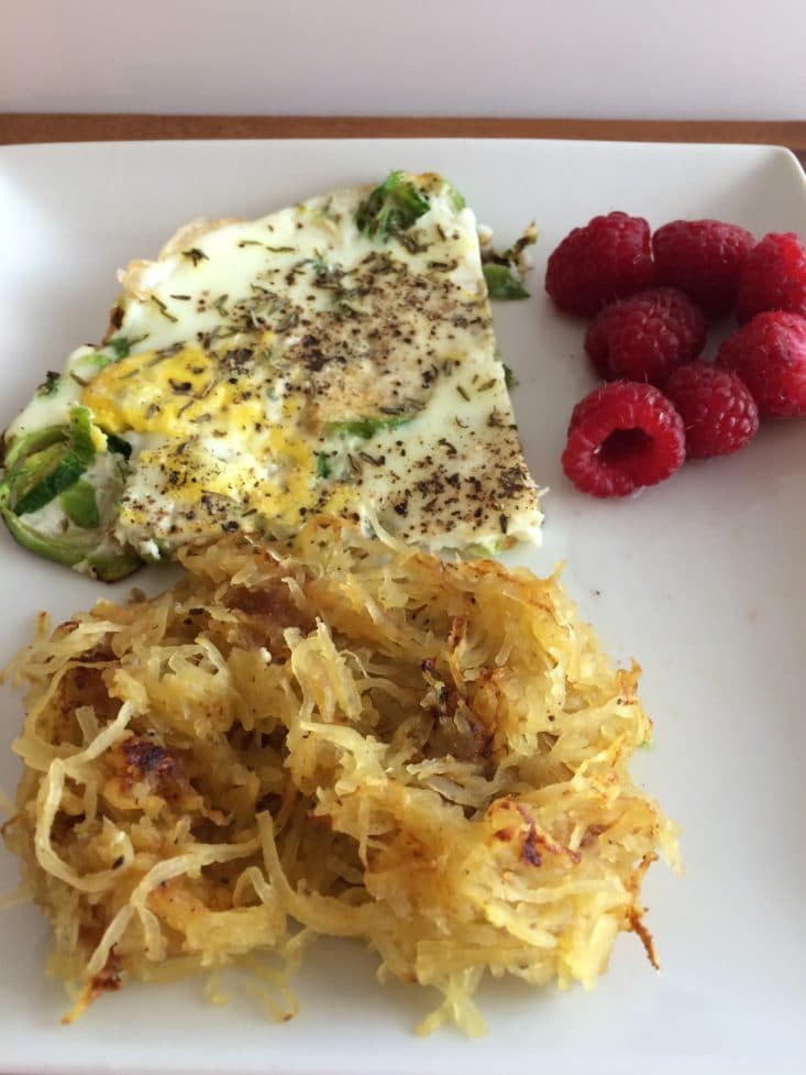 Breakfast . Shaved brussels sprouts egg frittata. Shaved brussels ...