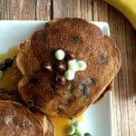 Mint Banana Chocolate Chip Pancakes (V, GF) & Medical Failures
