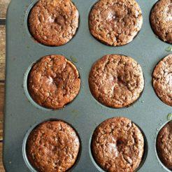 Zucchini Apple Spice Muffins {GF, Paleo, Low Cal}