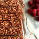 No Bake Raspberry Peanut Butter Granola Bars