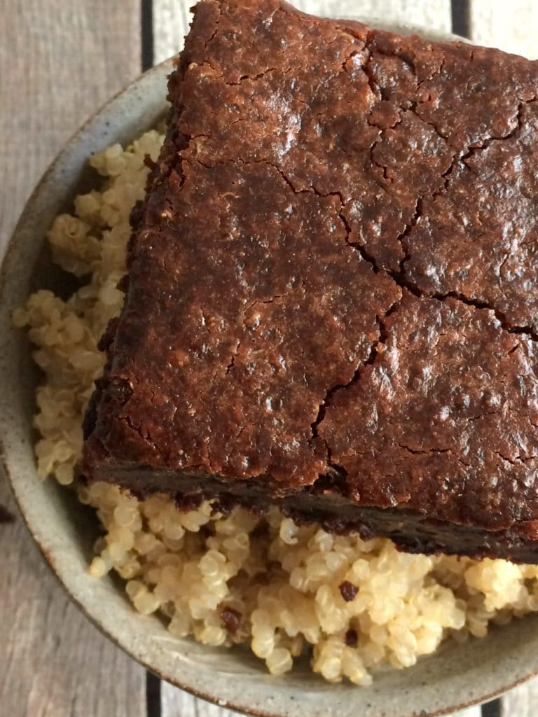 Double Chocolate Quinoa Brownies {Vegan, GF} - Skinny Fitalicious