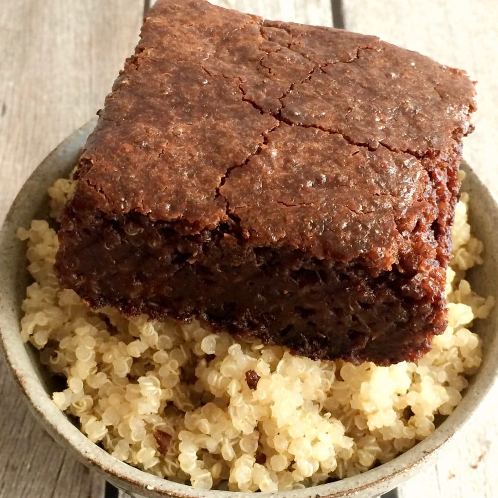 Double Chocolate Quinoa Brownies {Vegan, GF} - Skinny ...
