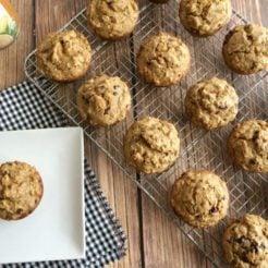 Chocolate Chip Butternut Squash Muffins {GF}