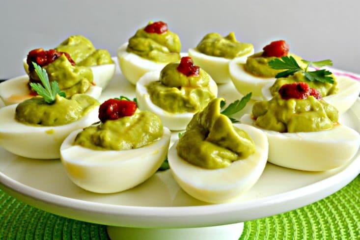 Avocado Deviled Eggs Gf Low Cal Paleo Skinny Fitalicious