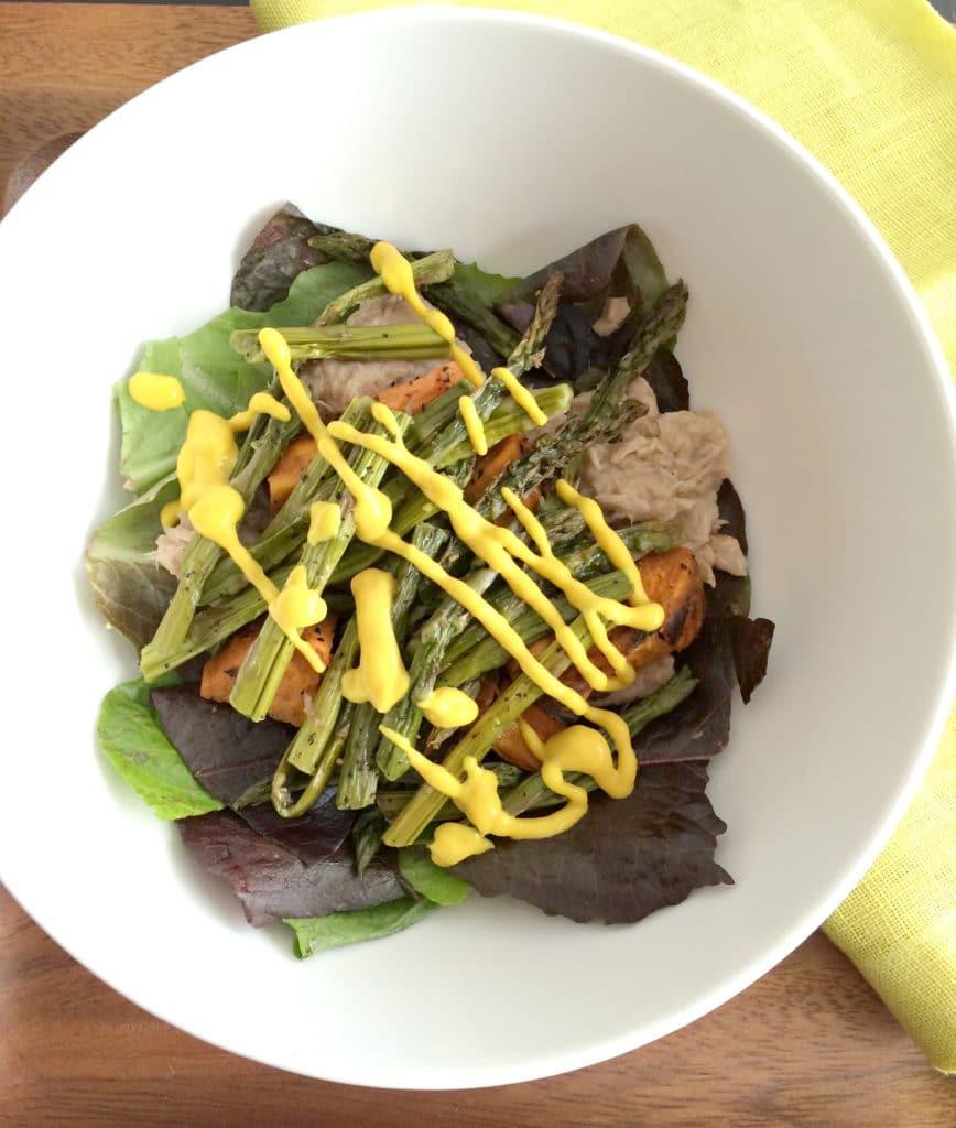 lunch-salad-asparagus-tuna-sweet-potato