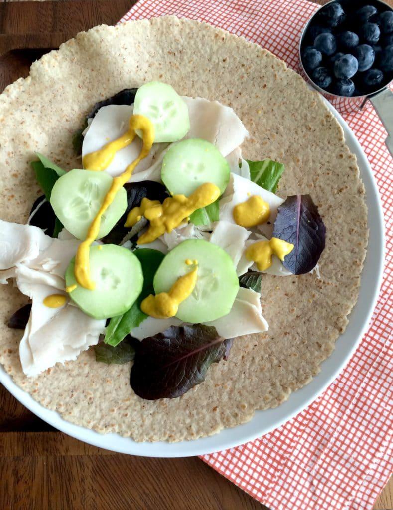 lunch-turkey-wrap-cucumber-blueberries