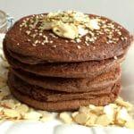 80 Calorie, Zucchini Cocoa Pancakes {Vegan, Dairy Free}