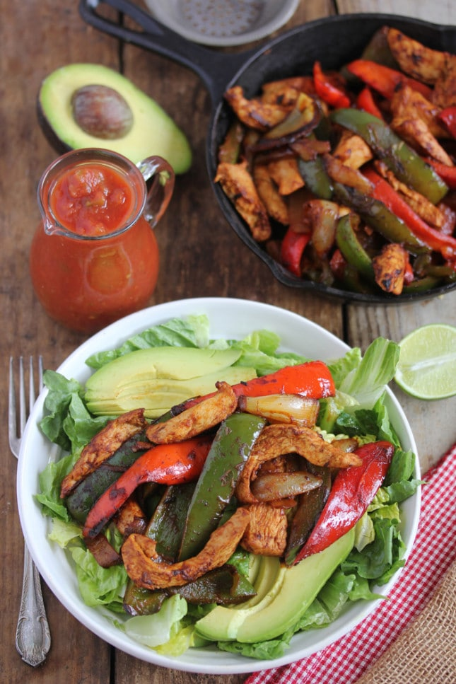 Chickenfajitasalad71