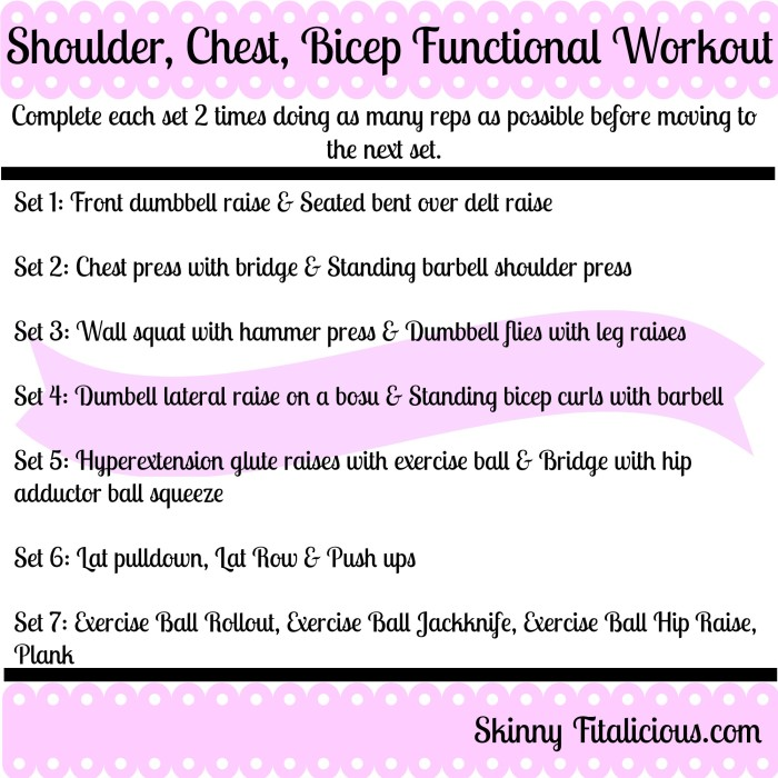 Impressive Shoulder, Chest & Bicep Workout - Skinny ...