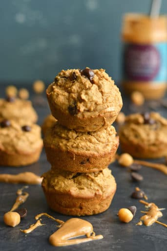 Chocolate Chip Chickpea Muffins {GF, Low Calorie}