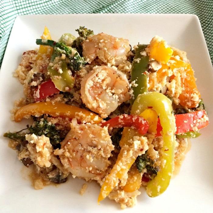 Shrimp Bell Pepper Cauliflower Rice