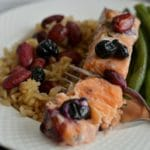 Blueberry Almond Baked Salmon {GF, Paleo, Low Cal}