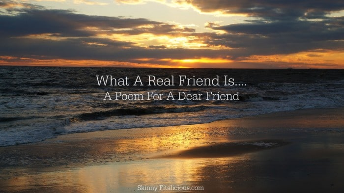 What A Real Friend Is