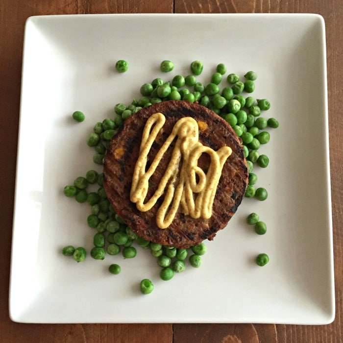 Black Bean Burger Peas