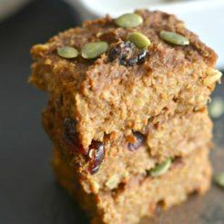 Pumpkin Walnut Quinoa Bars {GF, Vegan, Low Cal}