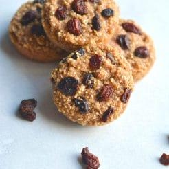 Quinoa Raisin Muffins {GF, Low Cal}