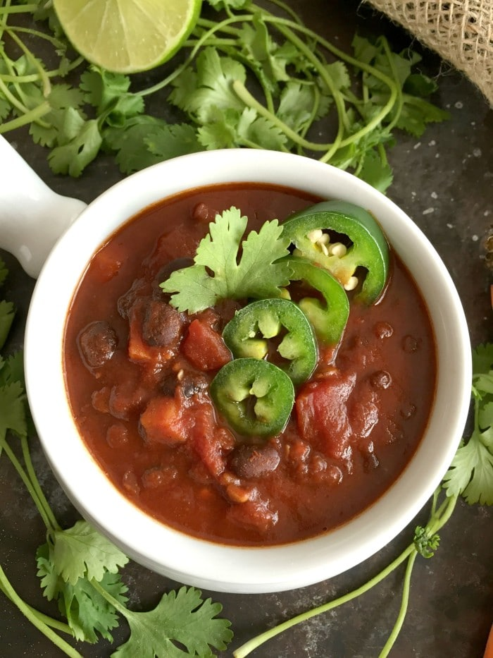 Smoky Lentil Black Bean Soup