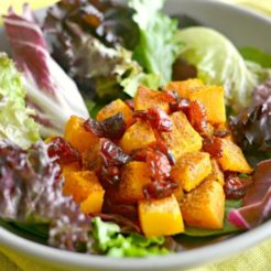 Butternut Squash Cranberry Salad {GF, Paleo, Vegan, Low Cal}
