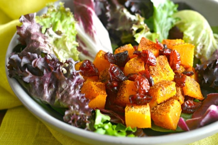 Butternut Squash Cranberry Salad