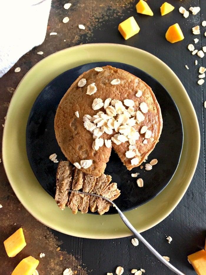 Butternut Squash Maple Oat Pancakes