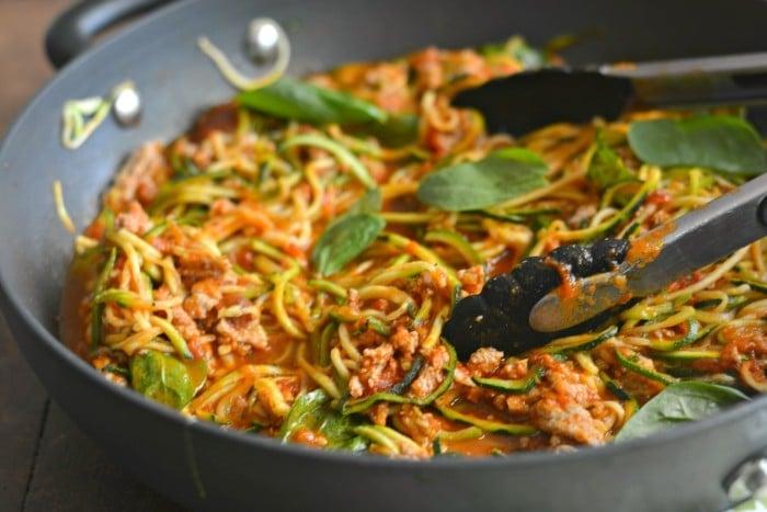 Turkey Spaghetti Zoodles