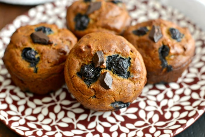 Pumpkin Blueberry Cashew Chocolate Muffins