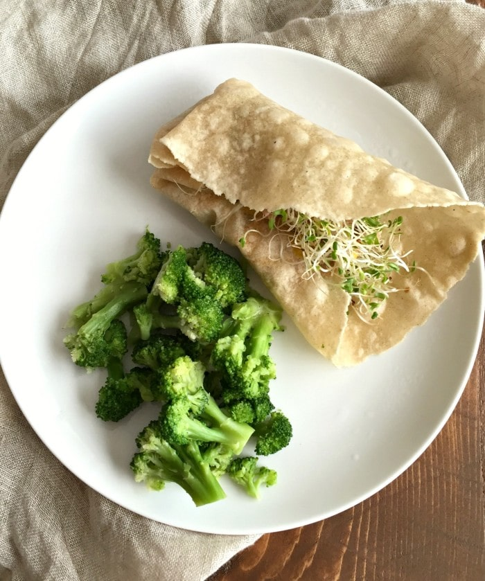 Tuna Wrap & Broccoli