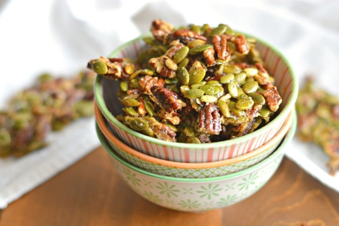 Ginger Spiced Candied Pecans & Pepitas