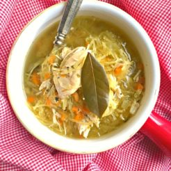Chicken Noodle-less Soup