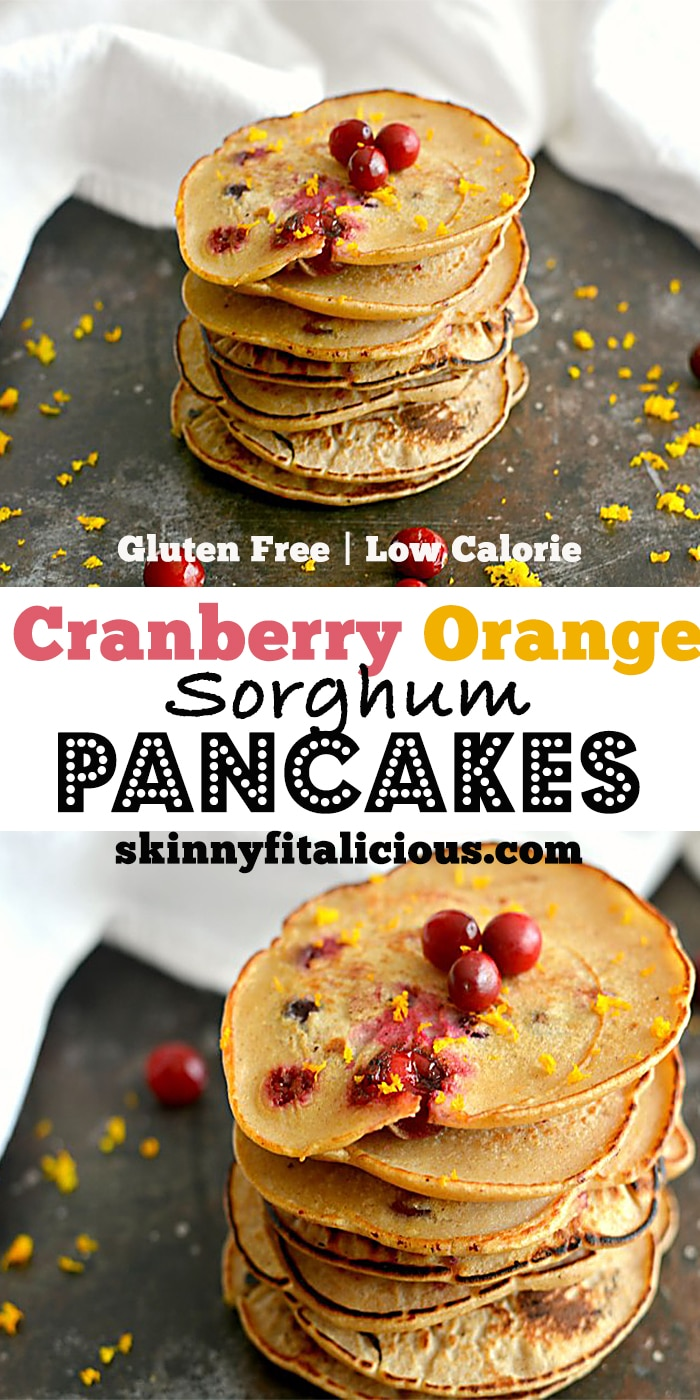 Wake up to these comforting Cranberry Orange Pancakes! Light as crepes, filling as pancakes this citrus infused stack made with Greek yogurt is packed with vitamins C & E and fiber. A holiday inspired favorite!