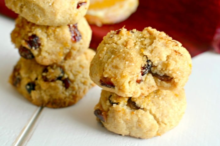 Healthy Cranberry Orange Sugar Cookies