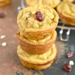 Winter Squash Muffins With Cranberries {GF, Low Cal}