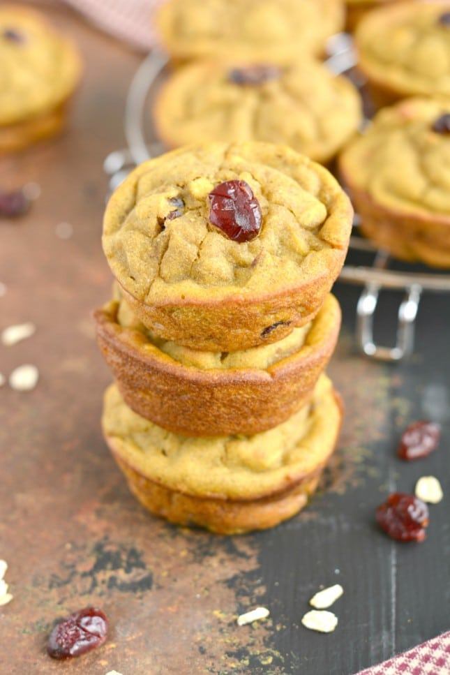 Winter Squash Muffins made with cranberries, cinnamon and butternut squash. Gluten free and low calorie, this cozy muffin is a delicious snack on a winter day!