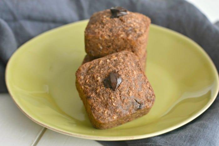 Banana Double Chocolate Peanut Butter Muffins that taste like mini ...