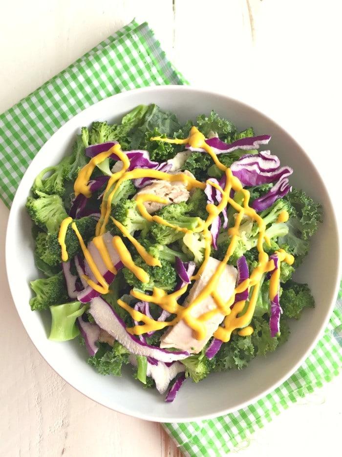 Broccoli Kale Tuna Salad