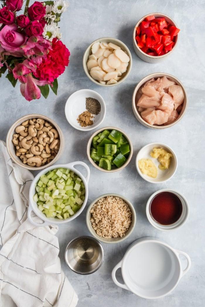 cashew chicken bake ingredients