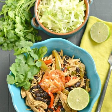 Crockpot Chicken Taco Bowls