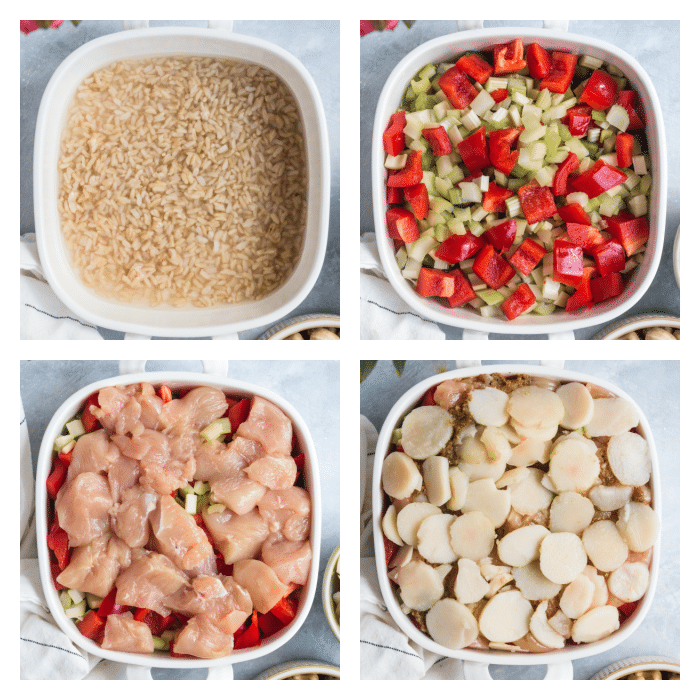 4 steps for how to make cashew chicken in the oven