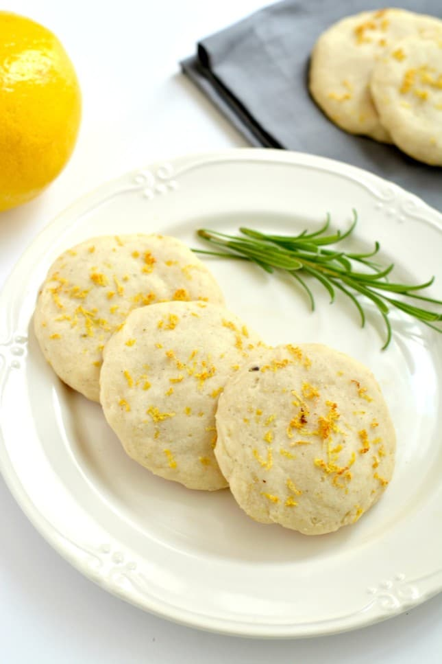 Healthy Lemon Lavender Cookies are perfect for warm weather! Packed with citrus, these Vegan & GF cookies are light, refreshing and subtly sweet.