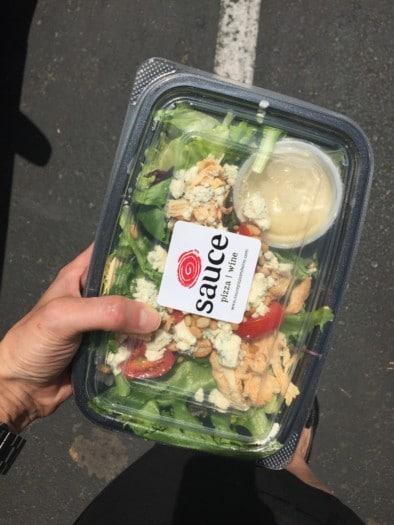 Sauce Chicken Pine Nut Salad