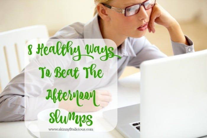 Instead of reaching for a sugary snack, try one of these simple, 8 Healthy Ways To Beat The Afternoon Slumps!