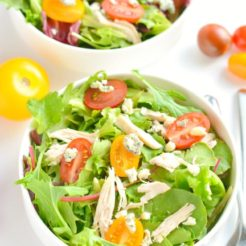 Tomato Chicken Gorgonzola Salad {GF, Low Cal}