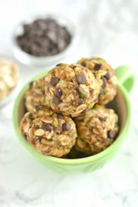 Zucchini Chocolate Oatmeal Bite