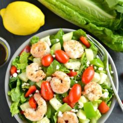 Greek Shrimp Salad {GF, Low Cal}