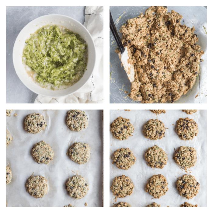 steps to make zucchini oatmeal cookies